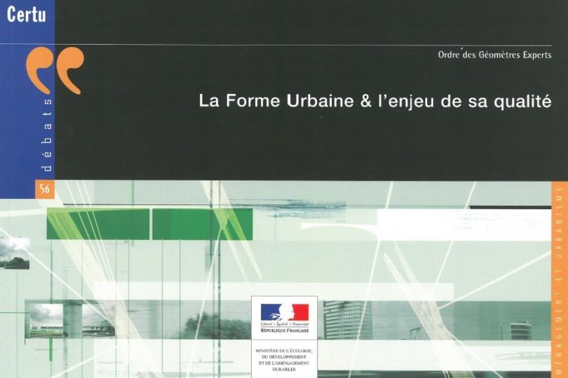 [Ouvrage] Formes urbaines