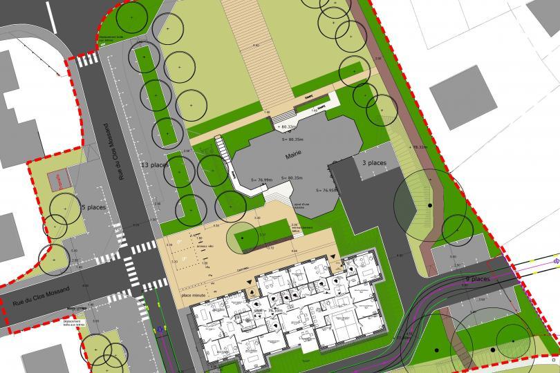 Aménagement des espaces publics de la place de la Mairie et de la Maison de santé