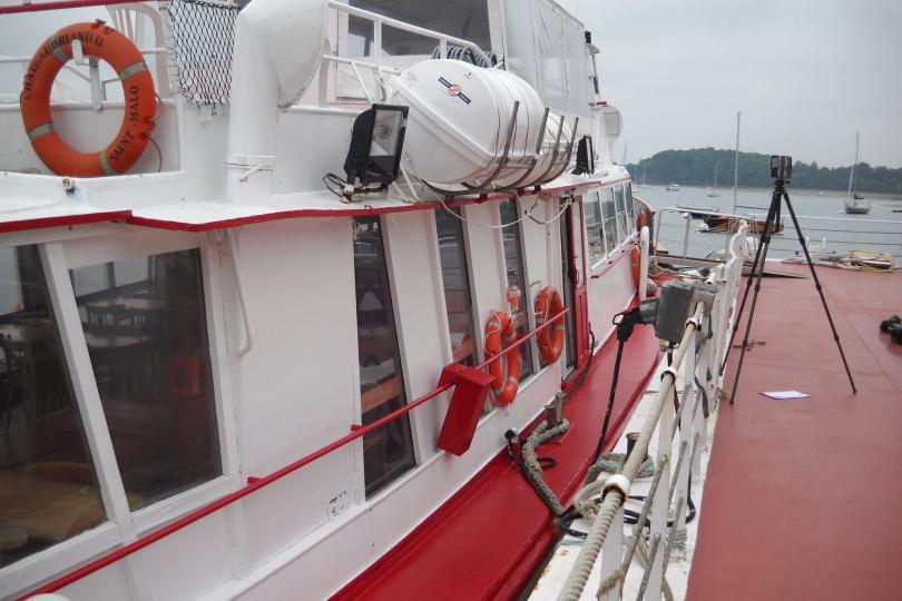 Relevé d'un bateau de croisière