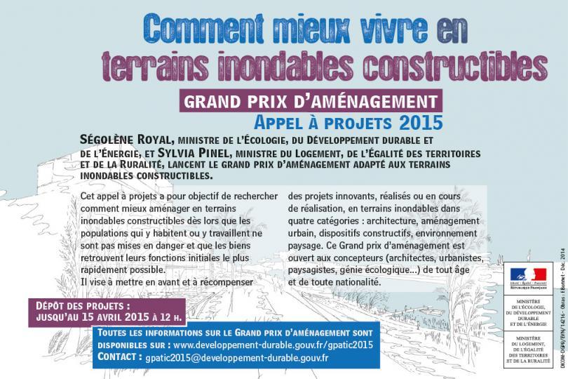 Grand Prix d'Aménagement Terrains Inondables Constructibles (GPATIC) 2015