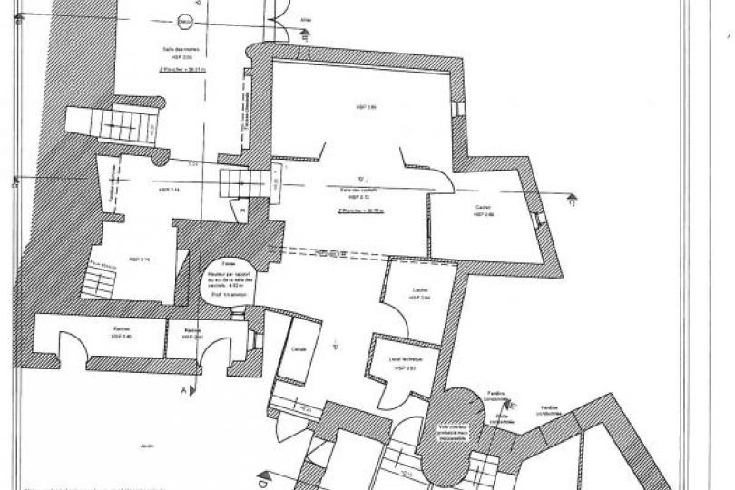Etablissement de plans des intérieurs