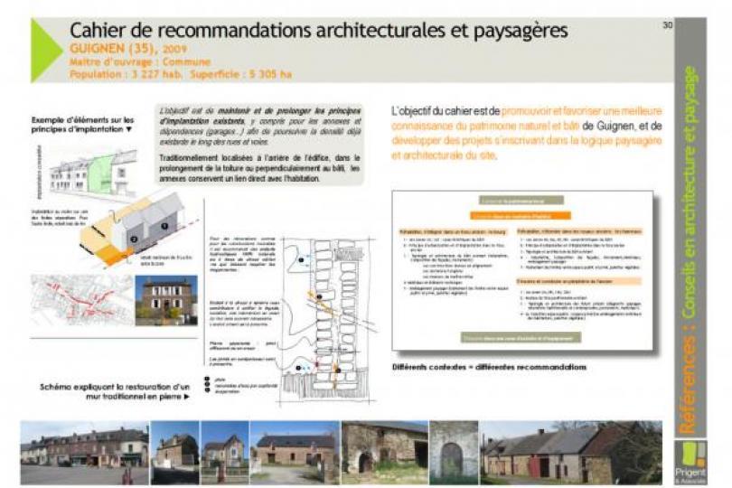 Rédaction de Cahiers de Recommandations Architecturales et Paysagères