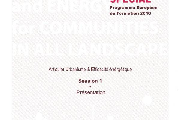 Programme SPECIAL: Articuler Urbanisme & Efficacité énergétique