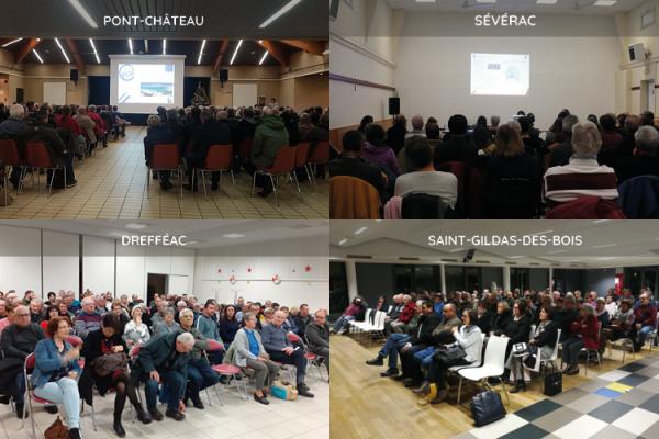 Animation de réunions publiques en Loire-Atlantique